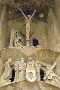 Picture of Sagrada Familia religious scenes on exterior