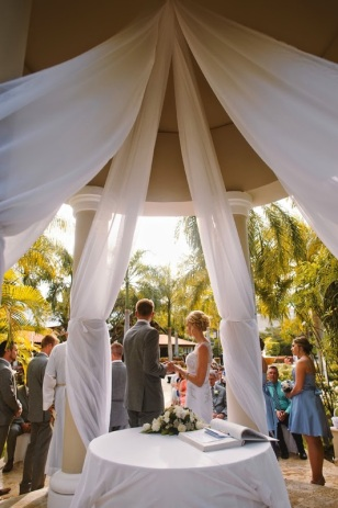 Picture of wedding at Dreams Palm Beach Punta Cana gazebo