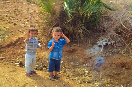 Picture of Berber village kids Morocco