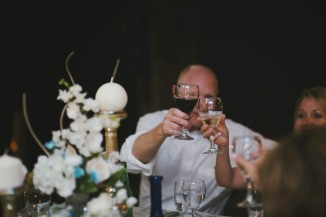 Picture of toasting at a wedding reception