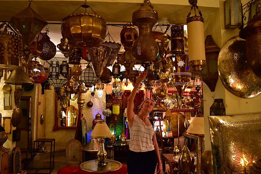 Picture of beautiful lanterns in Marrakech souk