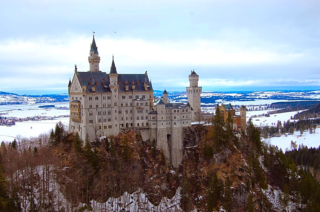 Picture of Neuschwanstein Castle in Bavaria Germany in wintertime