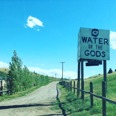 Picture of the Norris Hot Spring sign in Montana
