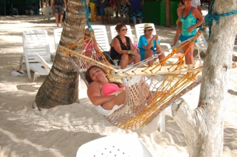Picture of laying in hammock on the beach