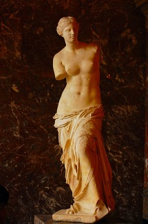 Picture of Venus de Milo in Louvre Museum Paris