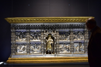 Picture of half ton weight silver religious altar Florence Duomo Museum
