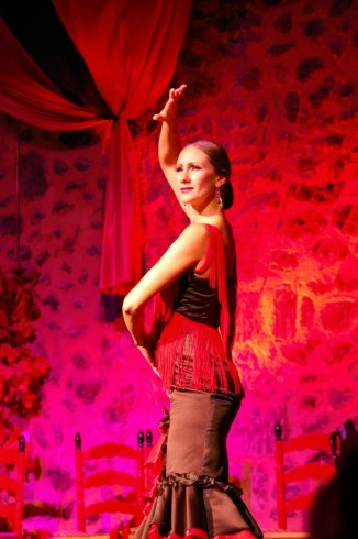 Picture of traditional flamenco dancer at Son Amar Mallorca