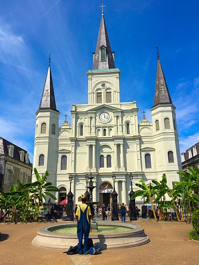 Picture of St Louis Cathedral from Jackson Square