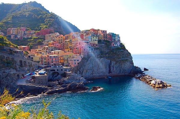 Picture of colorful village of Manarola Cinque Terre Italy