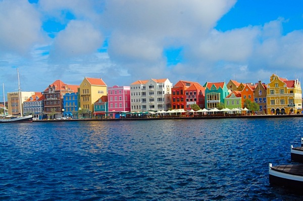 Picture of colorful buildings downtown Williamsted Curacao