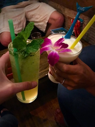 Picture of tropical drinks