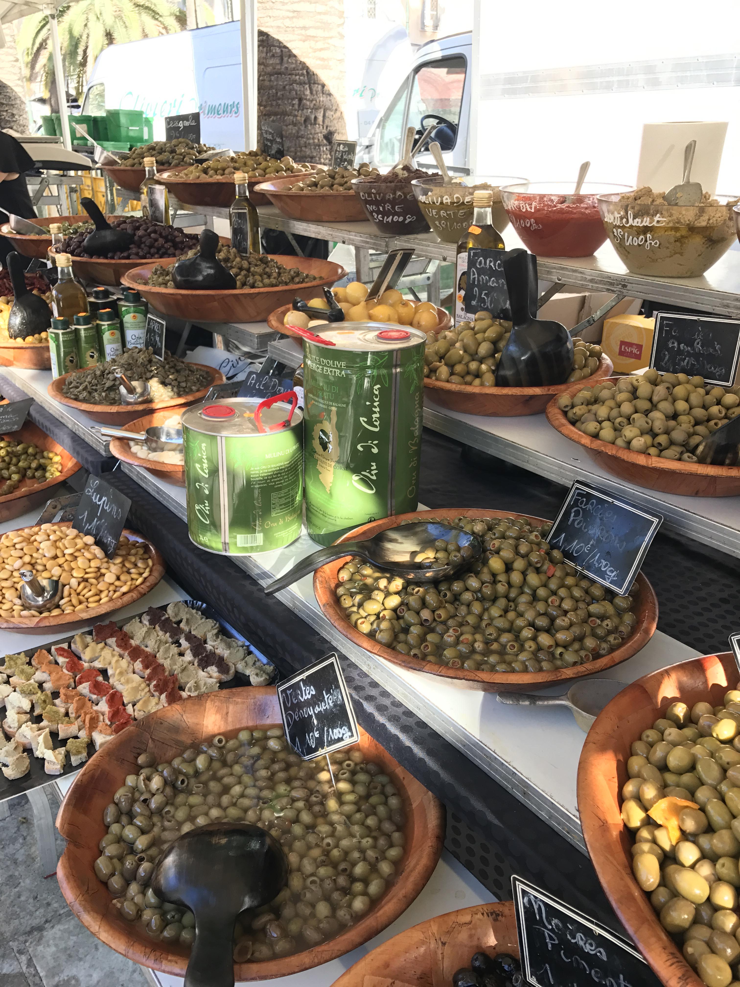 Picture of Ajaccio Market in Corsica